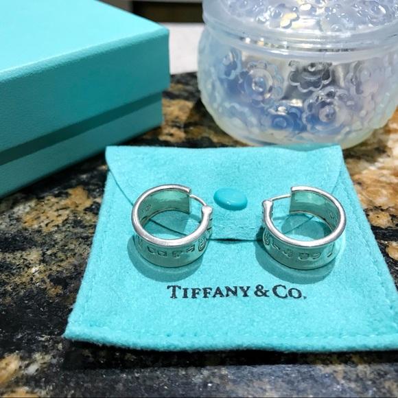 cb6349b41 Tiffany & Co. Jewelry | Tiffany Co 1837 Hoop Earrings 925 Silver ...